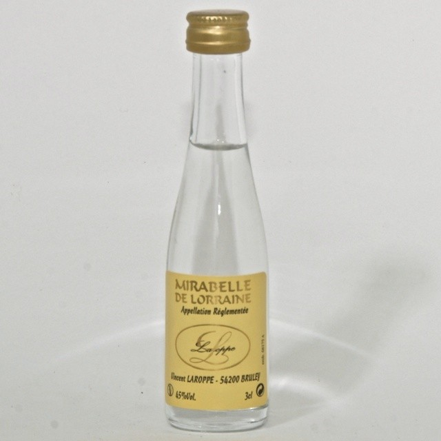 Mignonnette d 39 alcool blanc de mirabelle 3 cl aux grains - Alcool a friction ou acheter ...